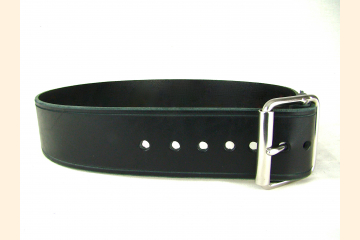 Kilt Belt Black Leather Belt Wide Belt Kilt Belt Double Bar Buckle Stainless Steel