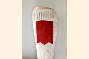 Suede Kilt Hose Flashes, Keep Your Kilt Socks Up, Gift for Kilt Wearers